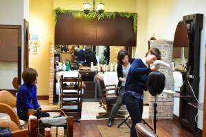 銀座の美容室のカットの勉強会