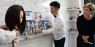 銀座の男性美容師が勉強会に参加