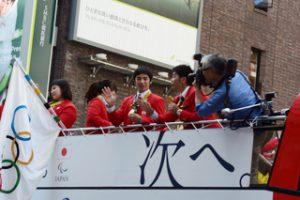 銀座のオリンピックパレード