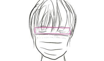マスクをするので前髪は短くしましょう!